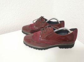 Sioux Zapatos brogue burdeos-púrpura Cuero