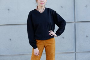 Brax Pull tricoté noir laine mérinos
