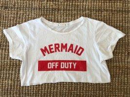Mila Store T-shirt court blanc-rouge