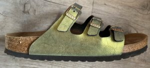 Birkenstock Sandały z rzemykami jasnozielony Skóra