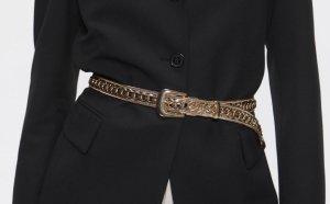 Zara Chain Belt gold orange-gold-colored