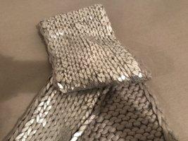 Metallic Schal silber