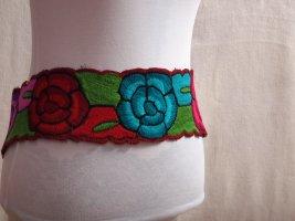Ceinture en tissu multicolore coton