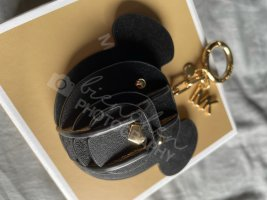 Michael Kors Key Chain black-gold-colored leather