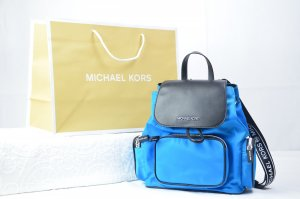 Michael Kors Abbey Medium Cargo Backpack in Bright Blue