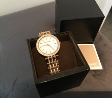 Michael Kors Watch With Metal Strap sand brown metal