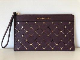 Michael Kors Clutch gold-colored-dark violet