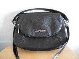 Michael Kors Shoulder Bag black-silver-colored leather