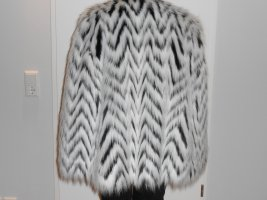 Michael Kors Cape aus Kunstpelz mit Zebra-Muster Gr. XL Neu