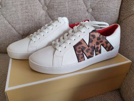 Michael Kors Catelyn Lace Up smooth gr. 38,5 sneaker Turnschuhe weiß braun schuhe