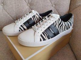Michael Kors Catelyn Stripe Zebra Sneaker Turnschuhe gr. 38,5 schwarz weiß schuhe