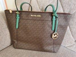Michael Kors Ciara Large Tote Tasche pine Green  Braun gold Handtasche schultertasche