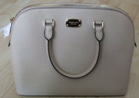 Michael Kors Cindy LG Dome Satchel Bisque