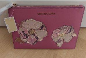 Michael Kors Clutch Jet Set pink mit Blumen neu mit Etikett !