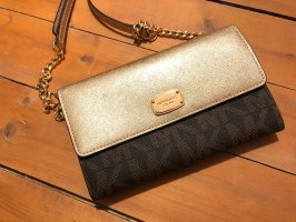 Michael Kors Clutch black brown-gold-colored