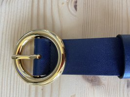 Michael Kors Leather Belt steel blue-blue leather
