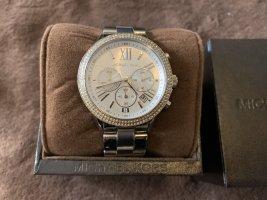 Michael Kors Horloge met metalen riempje veelkleurig Edelstaal
