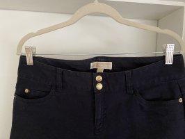 Michael Kors Pantalon 7/8 bleu foncé-noir coton