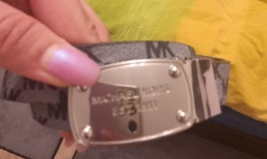 Michael Kors Hebilla del cinturón gris pizarra