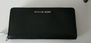 Michael kors geldbörse schwarz mit silber