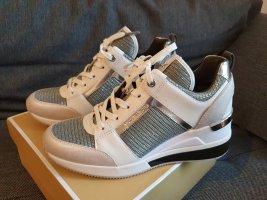 Michael Kors Georgie Trainer Extreme gr. 37,5 sneaker grau weiß silber Turnschuh