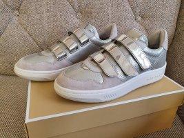 Michael Kors Gertie Sneaker gr. 38 leder silber grau weiß Turnschuhe Schuhe