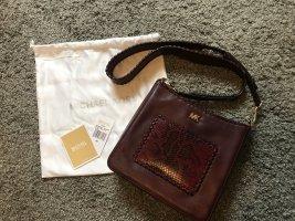 Michael Kors Gloria Pocket Swing Bag mit Schlangenoptik
