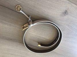 Michael Kors Cintura di pelle beige chiaro
