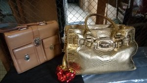 Michael Kors Handbag gold-colored leather
