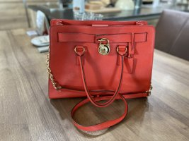 Michael Kors Bolso rojo-color oro