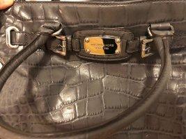 Michael Kors Handtasche mit passendem Portemonnaie, grau, Schlangenlederoptik