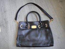 MICHAEL KORS Handtasche Schwarz Gold Kette Echt Leder Bag Leather