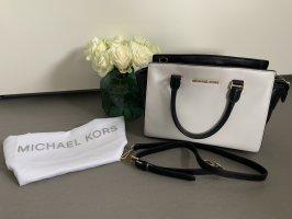 Michael Kors Borsa con manico nero-bianco
