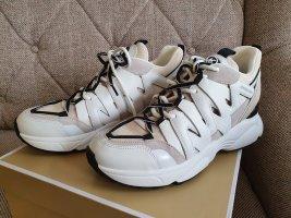 Michael Kors Hero Trainer Ecro Sneaker gr. 38,5 grau weiß Turnschuhe Schuhe