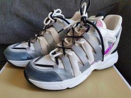 Michael Kors Hero Trainer Sneaker gr. 41 holograph grau weiß Turnschuhe Schuhe