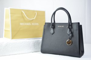 Michael Kors Hope Large Satchel Leather in Black