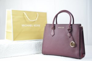 Michael Kors Hope Large Satchel Leather in Merlot
