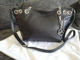 Michael Kors Jet Set schwarz Silber Schultertasche Kettentasche