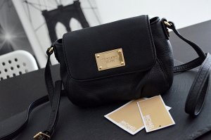 Michael Kors Jet Set Small Flap Crossbody Bag in schwarz mit Rechnung