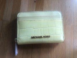 Michael Kors Jet Set Travel Card Case Portemonnaie Buttercup NEU OVP
