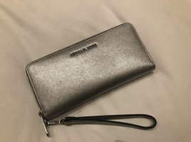 Michael Kors Jet Set Travel Large Silver Metallic Leather