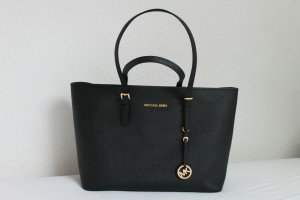 Michael Kors Jet Set Travel Tote Bag Schwarz Gold