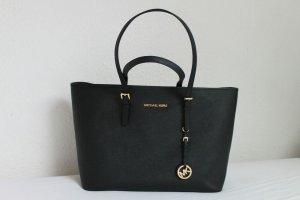 Michael Kors Jet Set Travel Tote Bag Schwarz Gold