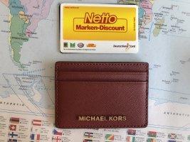 Michael Kors Porte-cartes cognac cuir