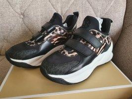 Michael Kors Keeley Trainer gr. 39 printed Haircalf Sneaker schwarz braun Leo