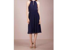 Michael Kors Kleid plissiert blau M 38 Neu Marine