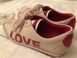 Michael Kors Leder Sneaker **LOVE**Schriftzug hinten ein Herz rosa /Rot