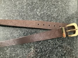 Michael Kors Leather Belt sand brown-cognac-coloured leather