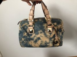Michael Kors Bowling Bag azure-oatmeal leather