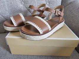 Michael Kors Mischa Sandal gr. 37 sandalen schuhe braun beige gold Plateau